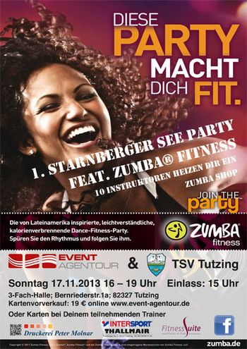 Zumba® Party Starnberger See am 17.11.2013