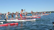SUP Stand-Up-Paddling auf dem Starnberger See